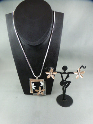 Fashion necklace and earring set FAN 1120 - Birdie's Nest Inc