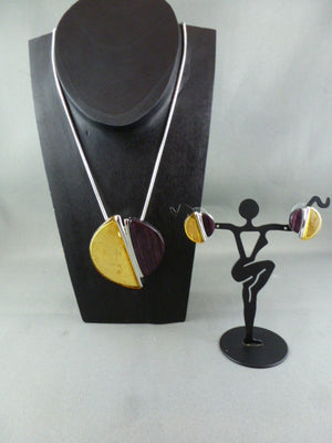 Fashion necklace and earring set FAN 1125 - Birdie's Nest Inc