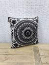 India cushion Black & Cream - Birdie's Nest Inc