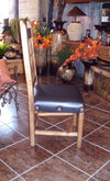Mexican dining chair with leather seat - Birdie's Nest Inc