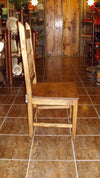 Mexican solid pine dining chair - Birdie's Nest Inc