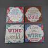 Set of 4 wine coasters - Birdie's Nest Inc