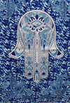 India wall hanging | blue hamsa - Birdie's Nest Inc