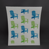 Swedish dish cloths | Blue & green chairs - Birdie's Nest Inc