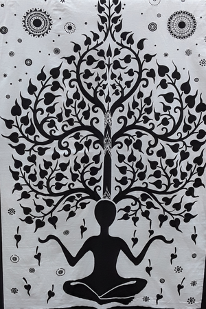 India wall hanging | yoga pose - Birdie's Nest Inc