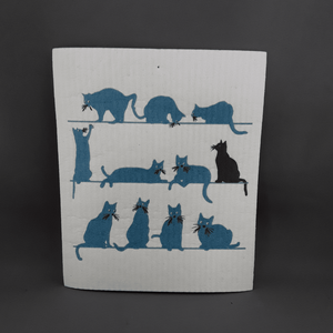 Swedish dish cloths | Blue cats - Birdie's Nest Inc