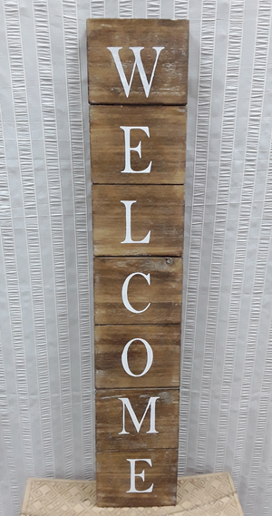Wooden welcome sign - Birdie's Nest Inc