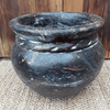 Medium garden pot with braid Kaleidoscope - Birdie's Nest Inc