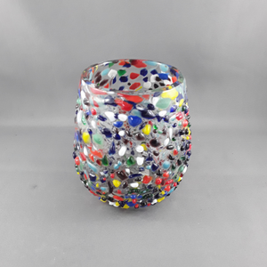 Stemless wine glass | Confetti - Birdie's Nest Inc