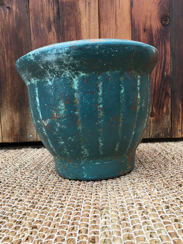 Clay Ribbed Garden Pot