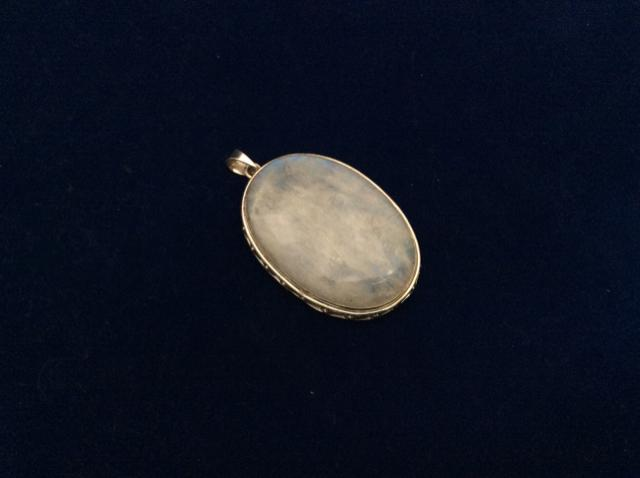 Vintage 925 Sterling Silver Pedant  oval shape 7412-1825 - Ragtime Consignment Boutique