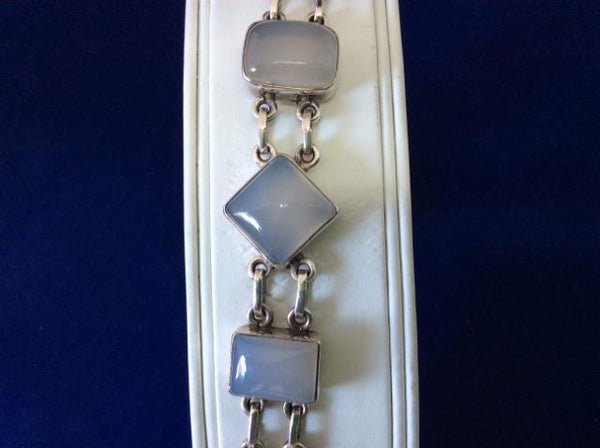 BRACELET 925 Sterling Silver Moonstone semi precious gem - Ragtime Consignment Boutique