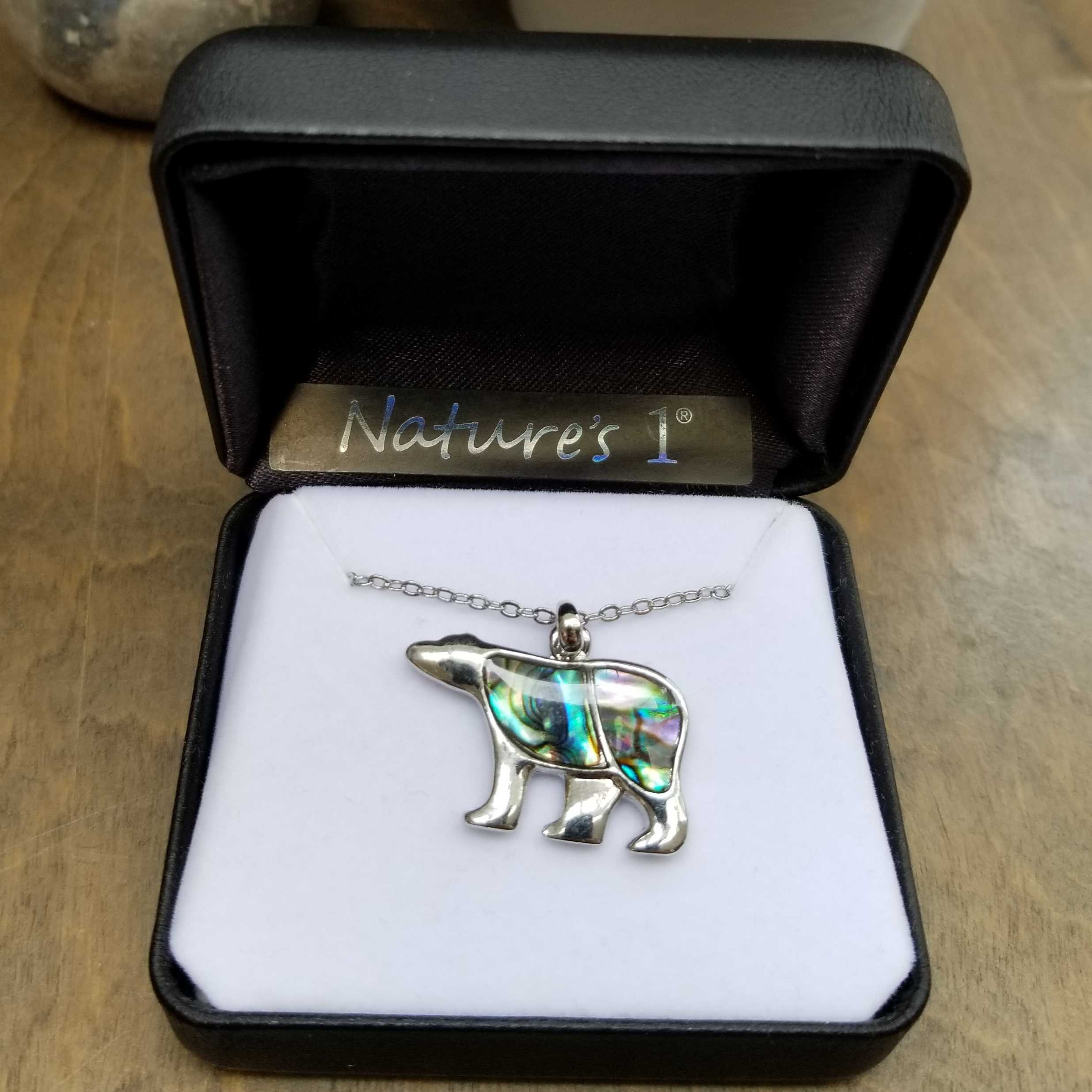 Paua Polar Bear Necklace