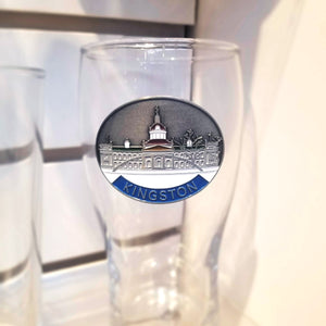 Kingston Pewter Emblem Beer Glass