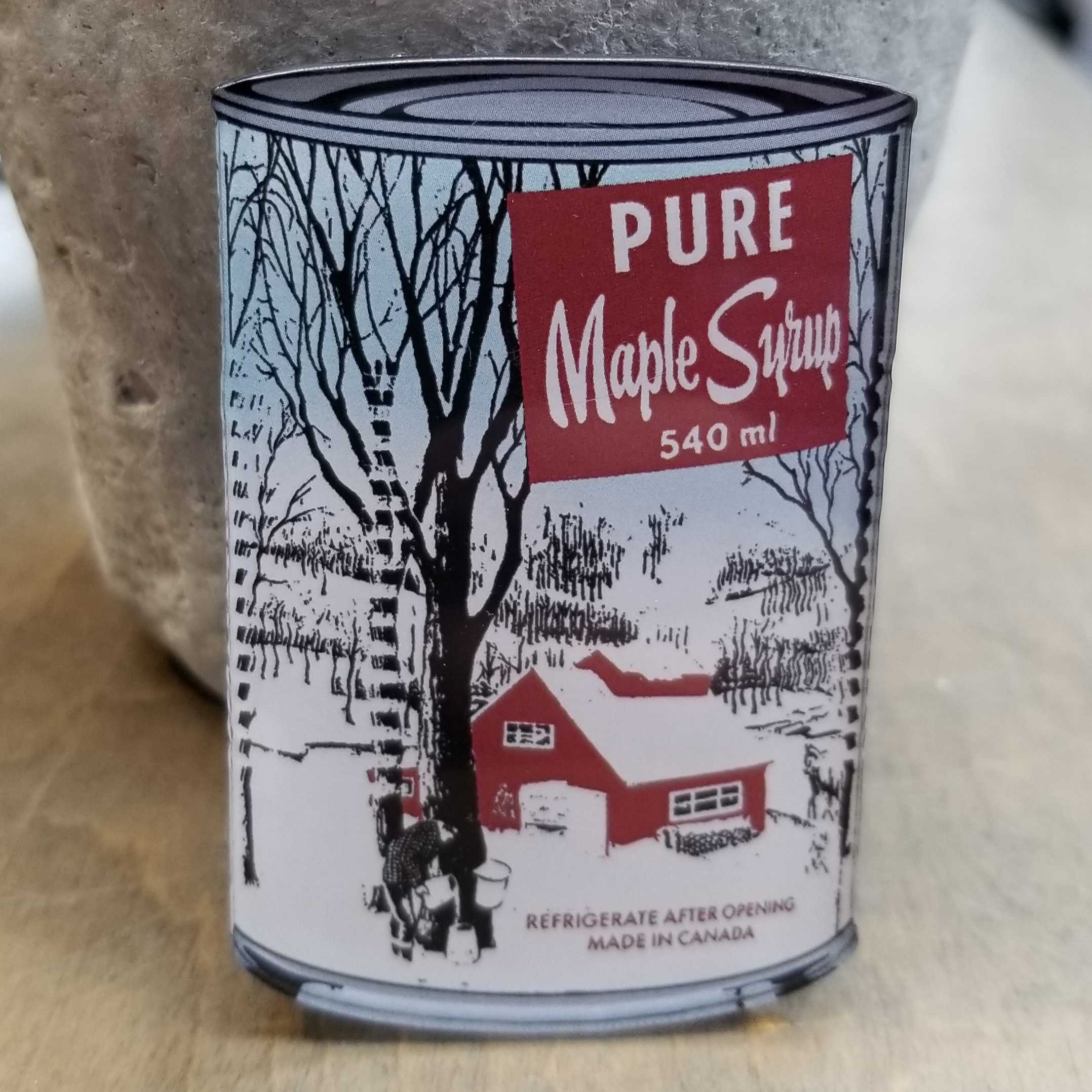 Maple Syrup Tin Magnet
