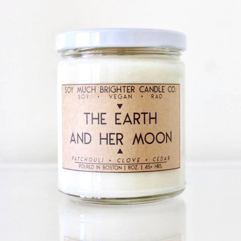 The Earth and Her Moon Candle