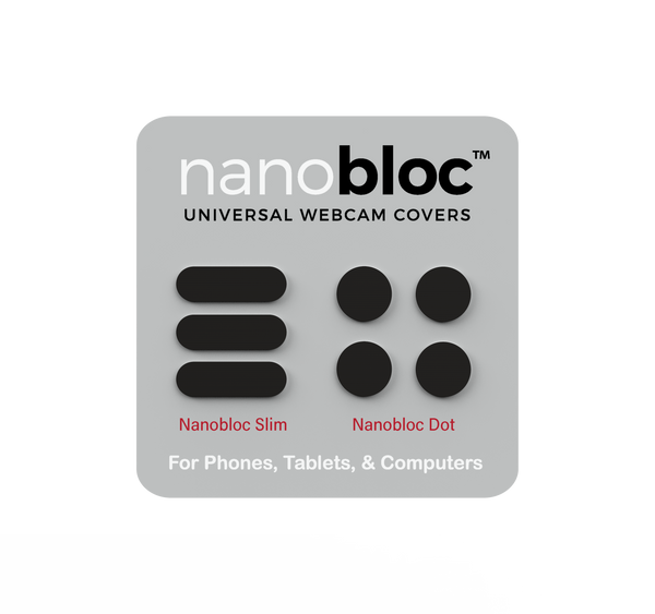 Eyebloc Nanobloc Universal Webcam Covers - Dots and Bars