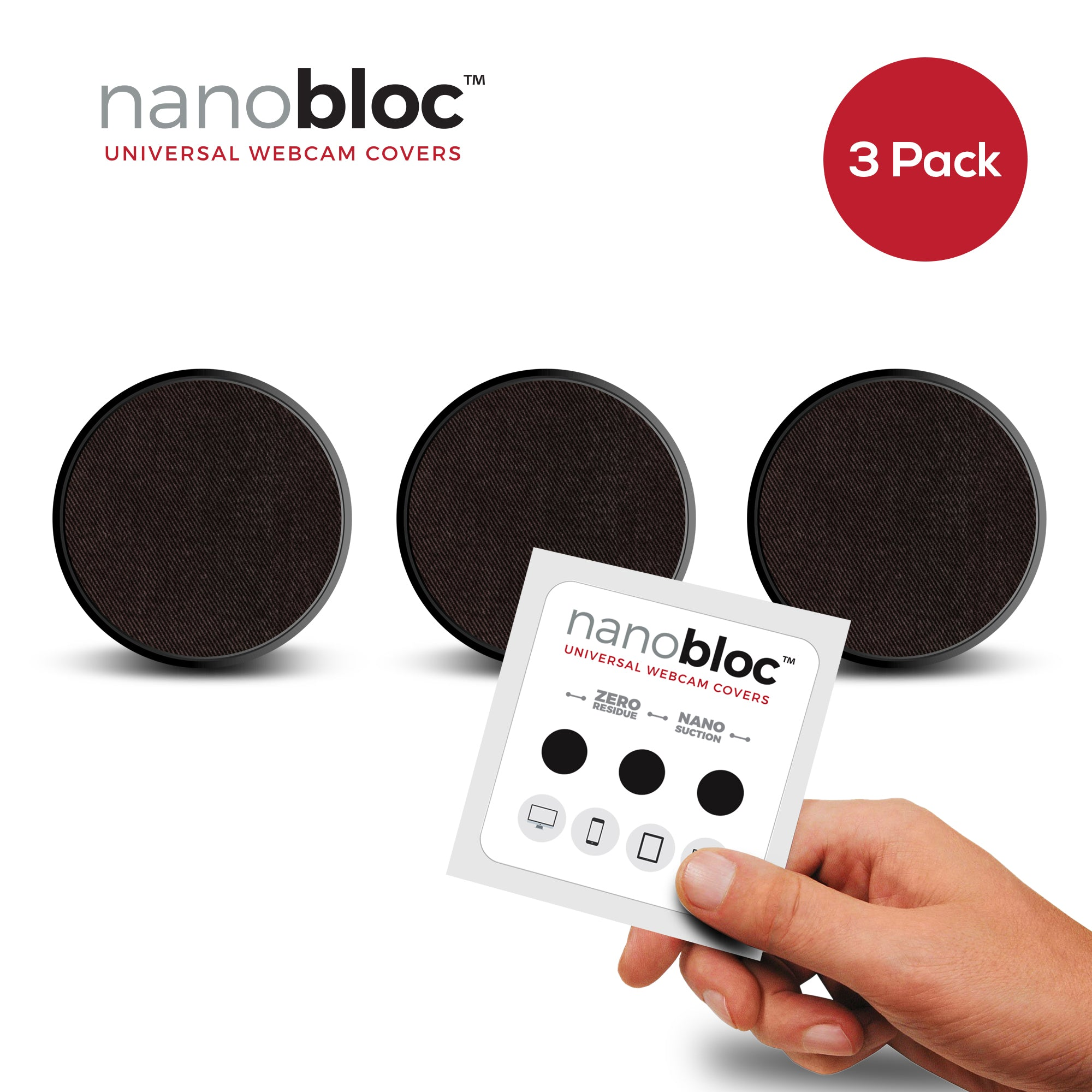 Nanobloc Universal Webcam Cover from Eyebloc - Box of 50 Packs