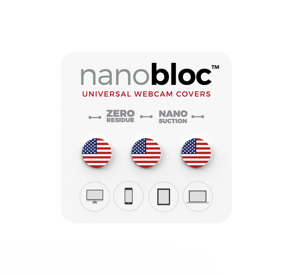 Nanobloc Universal Webcam Cover - USA Pack