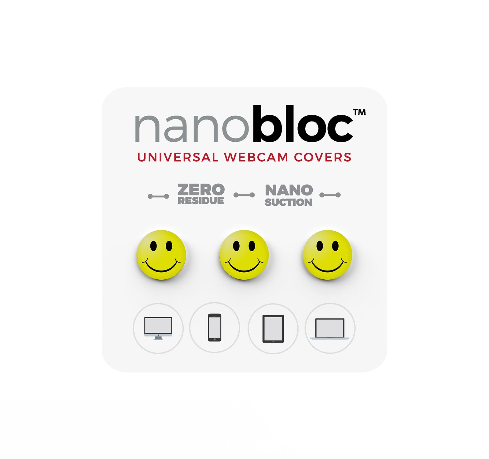 Nanobloc Universal Webcam Cover - Smiley Face