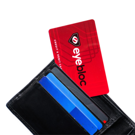4 RFID Blocking Cards - Eyebloc Credit & Debit Card Protector