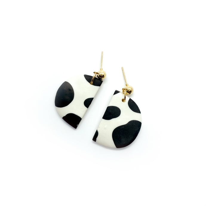 Cow 1 - earpartyph ear party ph polymer clay earrings philippines