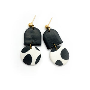 Cow 2 - earpartyph ear party ph polymer clay earrings philippines