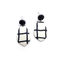 Load image into Gallery viewer, Grid Black - earpartyph ear party ph polymer clay earrings philippines