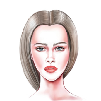 Face Shape: Women's Diamond