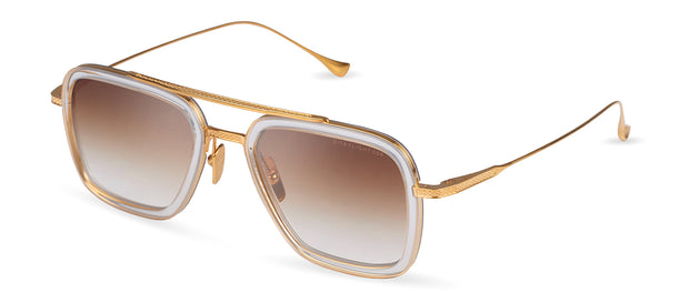 Dita Flight.006 Crystal Clear/Yellow Gold Square Sunglasses