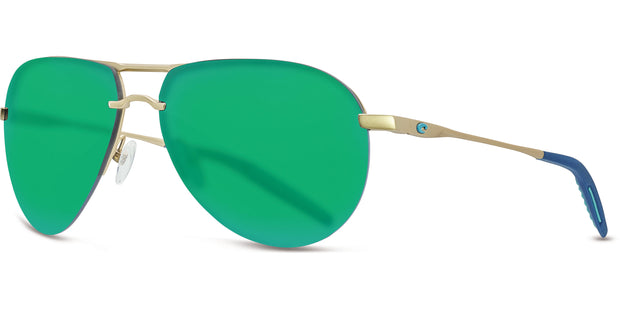 Costa Helo MT Champ Green Mirror 580P Aviator Sunglasses