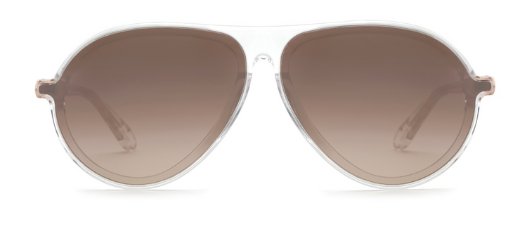 Krewe Ponce Crystal Aviator Sunglasses