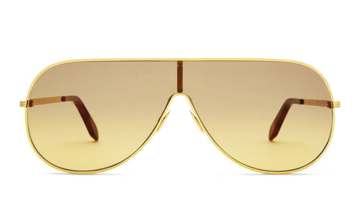 Victoria Beckham VBS138 C02 Grooved Metal Shield Sunglasses