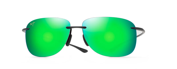 Maui Jim HIKINA BLACK MAUI GREEN Rimless Sunglasses