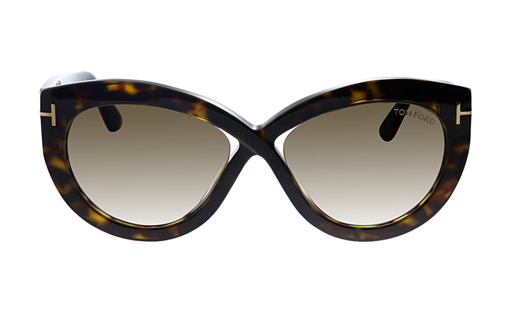 Tom Ford TF 577F 52G Butterfly Sunglasses