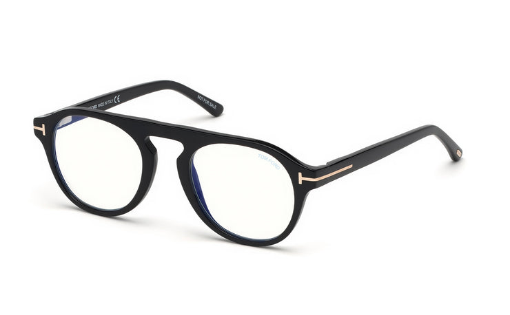 Tom Ford FT5533-B 01V Round Optical Blue Block Frames