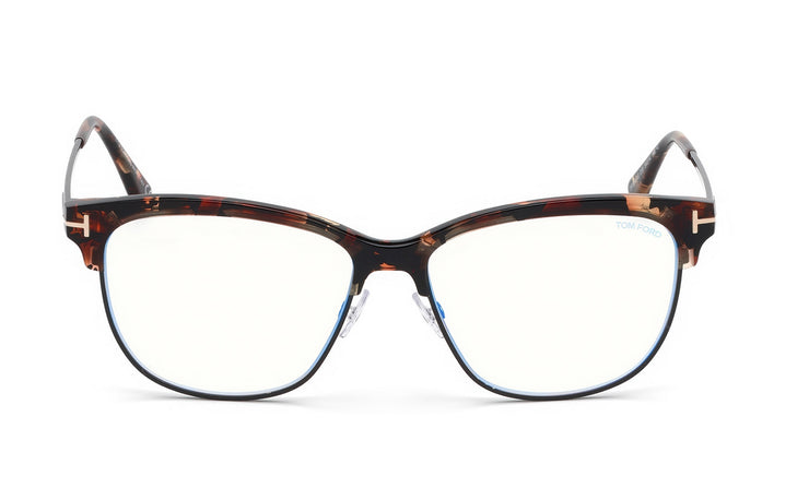 Tom Ford FT5546-B 055 Cateye Optical Blue Block Frames