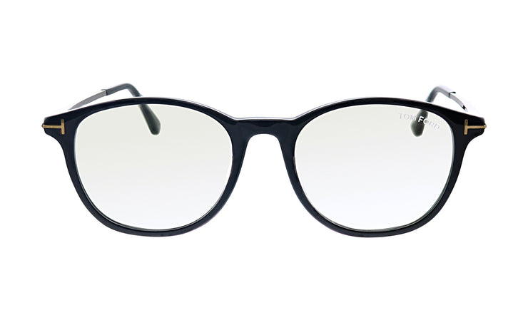 Tom Ford FT 5553FB 001 Round Eyeglasses