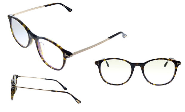 Tom Ford FT 5553FB 052 Round Eyeglasses