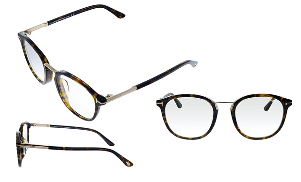 Tom Ford FT 5555FB 052 Round Eyeglasses