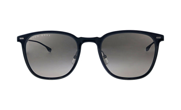 Hugo Boss BOSS 0 /S_8 Black/White Plastic Square Sunglasses Grey Lens