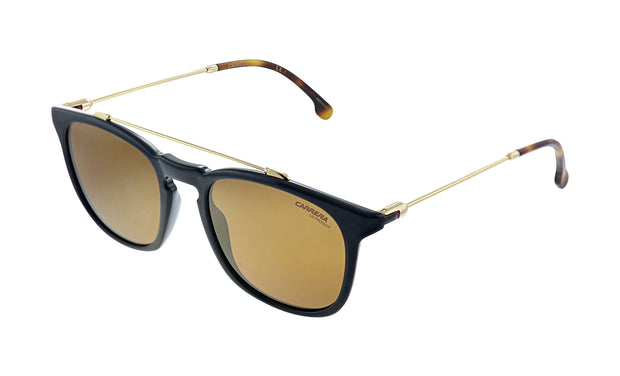 Carrera CA Car a154 Black Plastic Square Sunglasses Gold Mirror Lens