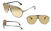 Carrera CA Car a100 Black Metal Pilot Sunglasses Gold Mirror Lens