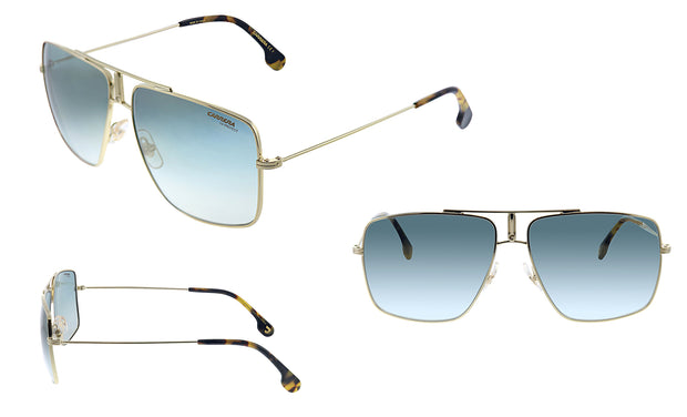 Carrera CA Car a100 Gold Metal Rectangle Sunglasses Grey Mirror Lens