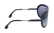 Carrera Americana KJ1 Black Plastic on Ruthenium Aviator Metal Sunglasses