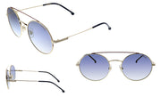 Carrera CA Car a200 Gold Metal Oval Sunglasses Blue Mirror Lens