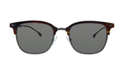 Hugo Boss BOSS 1 /F/S Brown Horn Metal Aviator Sunglasses Grey Blue Lens