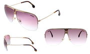 Carrera CA Carr a101 Pink Metal Pilot Sunglasses Brown Mirror Lens