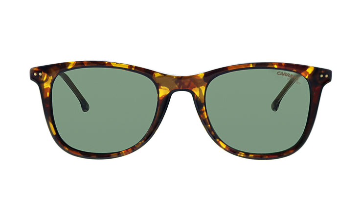 Carrera CA Car a197 Dark Havana Plastic Rectangle Sunglasses Green Lens