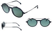 Carrera CA Car a195 Matte Black Plastic Round Sunglasses Green Lens